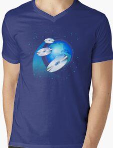 CDs & Globe Mens V-Neck T-Shirt