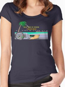 OUT RUN RADIO Women's Fitted Scoop T-Shirt
