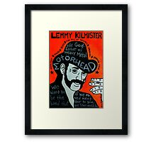 Lemmy Kilmister Motorhead Heavy Metal Folk Art Framed Print