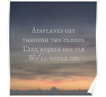 Airplanes and Angels (sunset) Poster