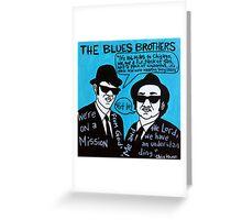 Blues Brothers Blues Folk Art Greeting Card