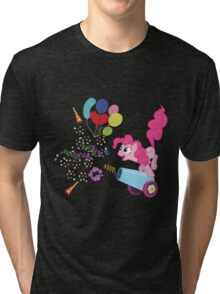 Pinkie Pie Cannon! Tri-blend T-Shirt