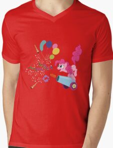 Pinkie Pie Cannon! Mens V-Neck T-Shirt