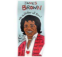 James Brown Soul Folk Art Poster