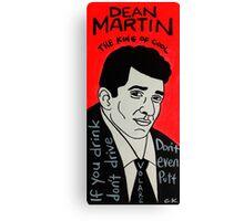 Dean Martin Pop Folk Art Canvas Print