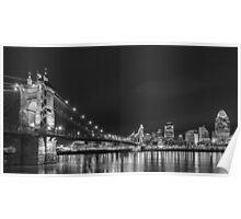 Cincinnati night skyline Poster