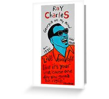 Ray Charles Pop Folk Art Greeting Card