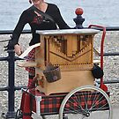 She stands up when she plays the hurdy gurdy  by Declan Carr
