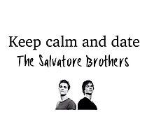 Vampire diaries Salvatore brothers  Photographic Print