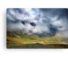 Mountains and clouds landscape Canvas Print