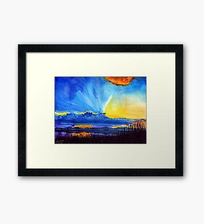 Watercolour sunset  Framed Print