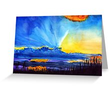 Watercolour sunset  Greeting Card