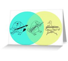 Keytar Platypus Venn Diagram Greeting Card