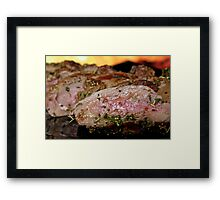 Cooked meat Framed Print
