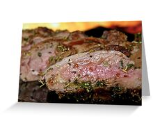 Cooked meat Greeting Card