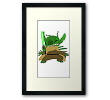 Yoda Stitch Framed Print