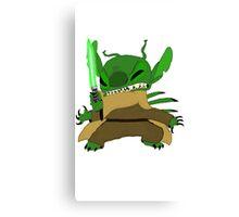 Yoda Stitch Canvas Print