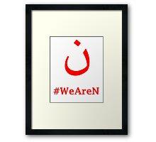 #WeAreN Framed Print