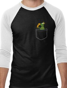 Pocket Frog Kissing Throphy Men's Baseball ¾ T-Shirt