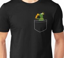 Pocket Frog Kissing Throphy Unisex T-Shirt