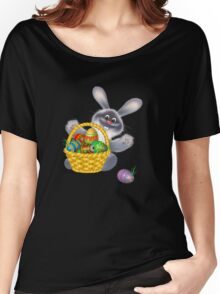 Easter Bunny with Egg Basket Women's Relaxed Fit T-Shirt