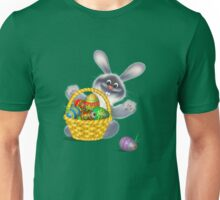 Easter Bunny with Egg Basket Unisex T-Shirt