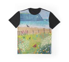 Garden Beside the Sea Graphic T-Shirt