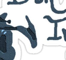 Bon Iver - Blue Screen Denim Logo Sticker