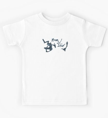 Bon Iver - Blue Screen Denim Logo Kids Tee