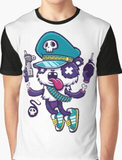 Police Monster Graphic T-Shirt