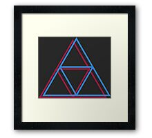 3-d triforce Framed Print