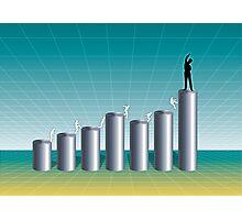 Business Success Chart 1 Photographic Print