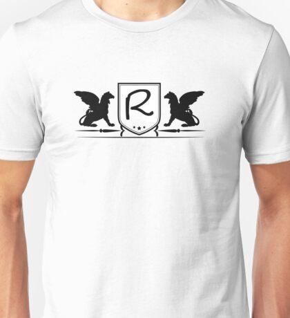 Heraldic Pegasus Monogram R Logo Unisex T-Shirt