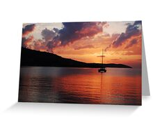 Sunset over a Greek Sea Greeting Card
