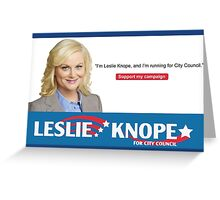 leslie knope parks and rec Greeting Card