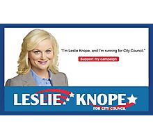 leslie knope parks and rec Photographic Print