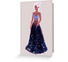 Space Princess Greeting Card