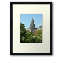 Church in Alfriston_South Downs_UK Framed Print