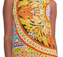 Buddhist Temple Painting Contrast Tank
