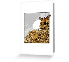 Death Head Skull Greeting Card
