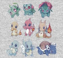 CUTE Pokemon Starters!! Kids Clothes