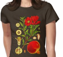 Pomegranate Womens Fitted T-Shirt
