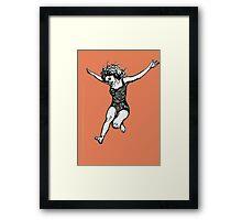 Leap in freedom. Framed Print