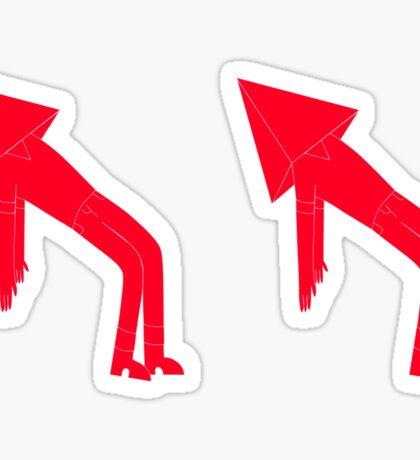 Pyramid Man - Red Sticker