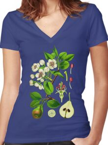 Pear Women's Fitted V-Neck T-Shirt