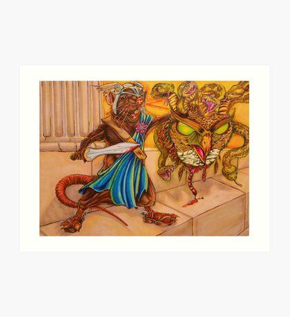Perseus slays the Gorgon Art Print