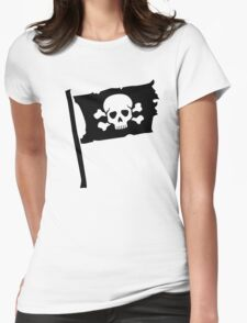 Pirate flag Womens Fitted T-Shirt