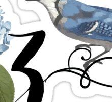 Bluebird Vintage Floral Initial Z Sticker