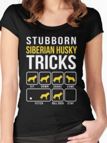 Siberian Husky Stubborn Tricks Women's Fitted Scoop T-Shirt