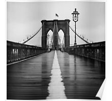 Brooklyn Bridge In Rain Poster
